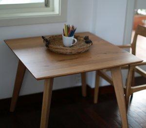 画像2: カーゴテーブル ウォルナット無垢材クリア 85
