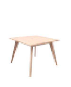 画像2: カーゴテーブル ホワイトオーク無垢材クリア 85