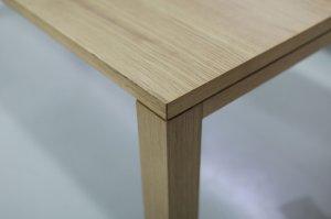 画像2: フェイシルテーブル ホワイトオーク突板 W148