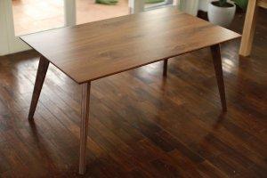 画像1: カーゴテーブル ウォルナット無垢材クリア 150