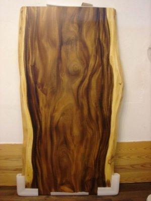 画像1: モンキーポッド 無垢 一枚板 1800