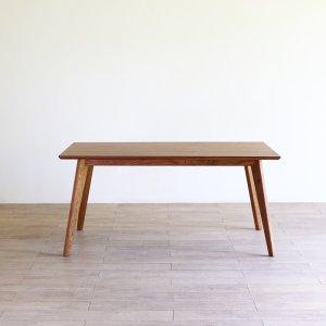画像1: カーゴテーブル ホワイトオーク無垢材ブラウン 150
