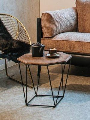 サイドテーブル エンマ GD/BK ライノ家具